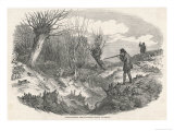 Rabbit Shooting Near Tunbridge Kent Giclee Print by  Duncan