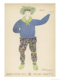 The Winter&#39;s Tale, Costume Design for a Peasant in the 1920 Paris Production Reproduction proc&#233;d&#233; gicl&#233;e par Fauconnet 