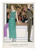 Jade Green Dress by Beer Giclee Print by Georges Barbier