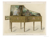 Richly Decorated French Clavichord Fit to Grace the Most Aristocratic Home Giclee Print by Ardelet 
