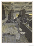 Farm Workers Sleeping in the Cow Shed Giclee Print by Walther Georgi