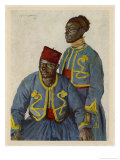 Two Soldiers from the Sudan Serving with the French Army During World War One Giclee Print by Theodor Baumgartner