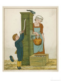 Polly Put the Kettle on We'll All Have Tea Giclee Print by Edward Hamilton Bell