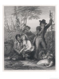 Young Hop Picker Though Dallying with One Companion Looks Sympathetically at Another Giclee Print by Henry Austin