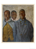 WWI African Soldiers Giclee Print by Theodor Baumgartner