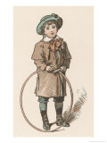 Young Boy with His Hula Hoop Giclee Print by Woldemar Friedirich
