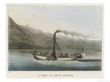 Steamer on Loch Lomond Giclee Print by M. Egerton