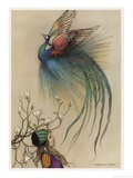 The Girl the Tree and the Bird of Paradise Reproduction procédé giclée par Warwick Goble