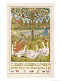 Goosey Goosey Gander Whither Do You Wander Giclee Print by Francis Bedford
