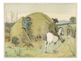 The Farmer Rides Through His Property Speaking to a Farm Labourer Giclee Print by Francis Bedford