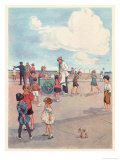 Selling Ice-Cream on the Promenade Giclee Print by Eve Garnett
