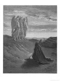 Three Angels Appear to Abraham and Inform Him of God's Intentions Premium Giclee Print by Gustave Doré