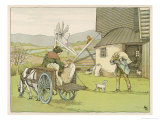 The Miller Carries a Third Sack of Flour to a Waiting Cart Giclee Print by Francis Bedford