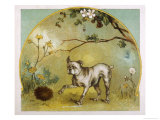 Bulldog with Hedgehog Giclee Print by R. Andre
