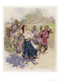 Peasant Dance in Little Russia Giclee Print by Frederic De Haenen