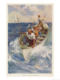 Whaling in the Pacific Premium Giclee Print by Alec Ball
