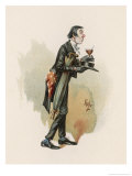 The Pickwick Papers: The Reverend Mr. Stiggin, The Hypocritical and Drunken Parson Giclee Print by Joseph Clayton Clarke
