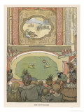Two Small Acrobats Perform with a Large Ball Giclee Print by Francis Bedford