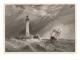 Smeaton&#39;s Third Eddystone Lighthouse Near Plymouth Giclee Print by W.b. Cooke