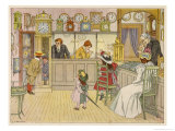 Watch and Clock Making Inside a Watch and Clockmaker's Shop Giclee Print by Francis Bedford
