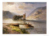 Der Mauseturm in the Rhein, The Subject of Legend Giclee Print by N. Astudin