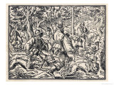 German Nobleman Hunts the Deer Reproduction procédé giclée par Jos Amman