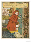 Little Red Riding Hood Giclee Print by Walter Crane