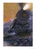 "The ""Overland Limited"" is the Crack Train of the Union and Central Pacific Railways Premium Giclee Print by Holland Browne"