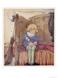 Little Jack Horner Sat in a Corner Eating a Christmas Pie Giclee Print by Anne Anderson