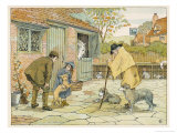 The Village Vet (Veterinary Surgeon) Advises a Young Customer on Her Dog's Diet Giclee Print by Francis Bedford