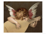 """Puto Che Suona La Guitarra"", a Young Angel Plays the Guitar Giclee Print by  Rosso Fiorentino (Battista di Jacopo)"