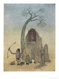 Ekalavya and Drona Giclee Print by Nanda Lal Bose