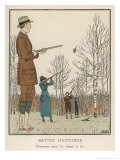 Hunting Dress 1912 Reproduction procédé giclée par Bernard Boutet De Monvel