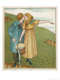 Jack and Jill are Head Over Heels in Love Giclee Print by Edward Hamilton Bell