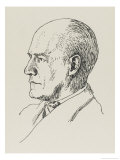 John Galsworthy Novelist and Playwright Gicleetryck av Powys Evans