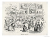 Visitors in the Salon Carre Admire the Entries for the Salon of 1843 Giclee Print by E. Forest