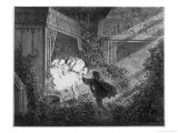 The Prince at Beauty's Bedside Reproduction procédé giclée par Gustave Doré