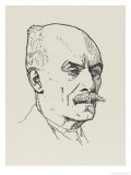 Maurice Hewlett Novelist and Poet Giclee Print by Powys Evans