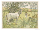 Former Bus Horse is Put out to Grass Giclee Print by Francis Bedford