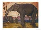 The Indian Elephant: Elephans Indicus Giclée-tryk af Louis A. Sargent