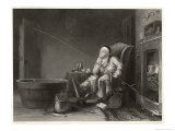 Gout Man Fishes at Home Giclee Print by H. Beckwith