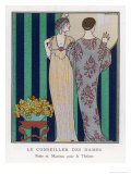 High-Waisted Clinging Gown Giclee Print by Georges Barbier