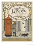 Visitor to London Posts a Letter Back Home Premium Giclee Print by Francis Bedford
