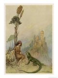 Goat-Face and the Lizard Giclee Print by Warwick Goble