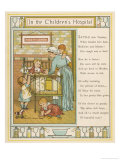 Nurse Attends to Four Young Children Giclee Print by Thomas Crane