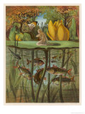 Thumbkinetta (Tommelise) Stands on a Water-Lily Leaf Giclee Print by Eleanor Vere Boyle