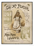 Marie Lloyd Music Hall Entertainer Singing Oh! Mr. Porter Giclee Print by Hg Banks