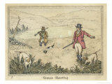 Grouse, Two Men and Their Dogs Walk up a Moor Hoping to Start up Some Grouse Giclee Print by Henry Thomas Alken