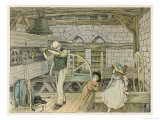 Clock Winder Giclee Print by Francis Bedford