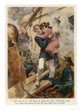 Child is Rescued Aboard a Passenger Ship Torpedoed by a U-Boat Giclee Print by Gordon Browne